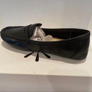 Isaac Mizrahi Live Reba Black Leather Loafers